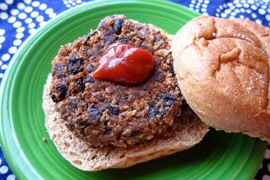 Black Bean and Oat Burger Recipe