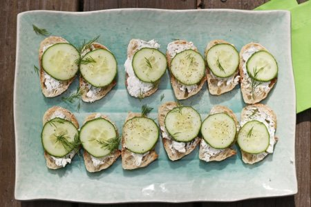 Cucumber Cream Cheese Bites