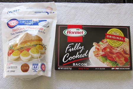 Shelf Stable Bacon and Eggs