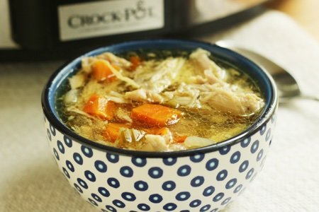 Low Carb Chicken Soup: Slow Cooker