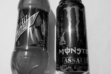Monster Assault and Mountain Dew