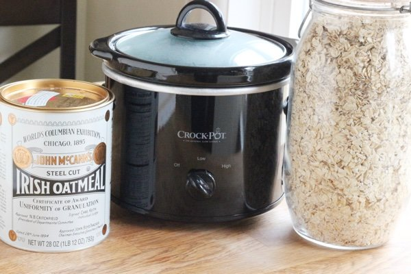 Crockpot Oatmeal With Old Fashioned Oats For One