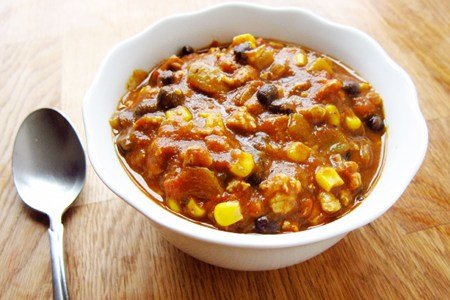 Seasonal pumpkin chili