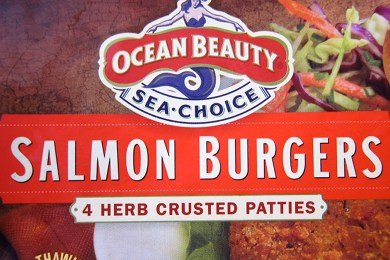 Salmon Burger With High Fructose Corn Syrup