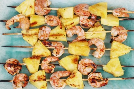 Pineapple and Shrimp Skewer