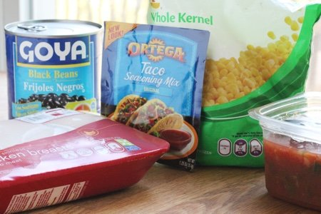 Slow Cooker Chicken Taco Filling