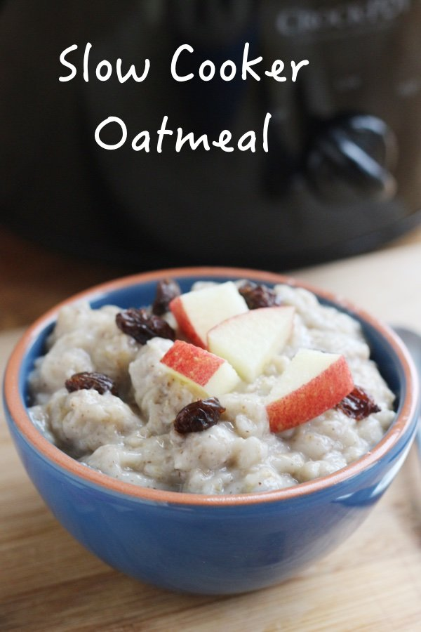 Crockpot Apple Cinnamon Oatmeal With Old Fashioned Oats
