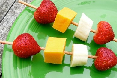 Kid's Healthy Snack on a Stick