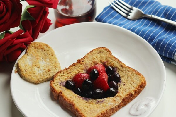Healthy Valentine's Day Breakfast