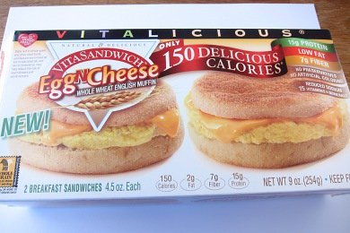 Vitalicious Egg-N-Cheese Sandwich Review