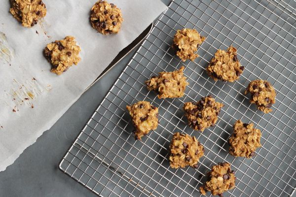Banana Oatmeal Peanut Butter Chocolate Chip Cookies