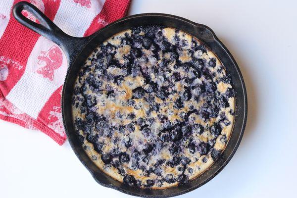 Blueberry Skillet Cake