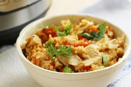 Light Instant Pot Chicken and Rice