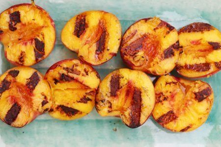 Grilled peaches recipe