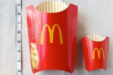 McDonald's Fries Portion Size