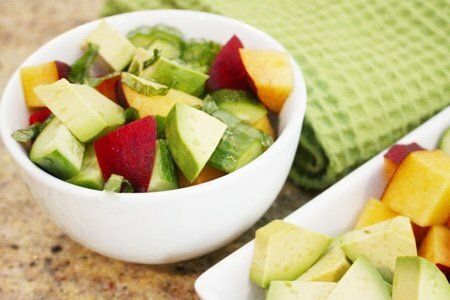 Avocado Peach Salad