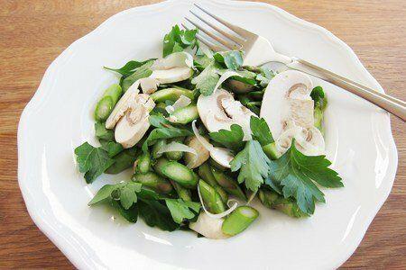 Raw Asparagus Salad