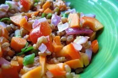 Low Calorie Wheat Berry Salad