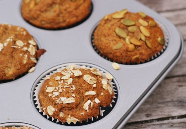 Whole Grain Banana Muffins: One Bowl!